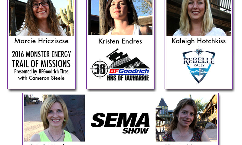 ladies co driver challenge Winners