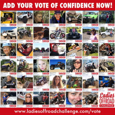 2017 Ladies Offroad Challenge Votes of Confidence Close Friday