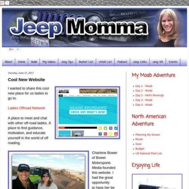 Jeep Momma: Cool New Website