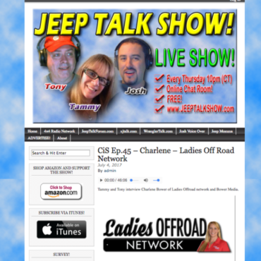 Jeep Talk Show: EP45 Charlene Ladies Offroad Network