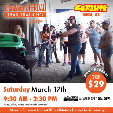 Ladies Offroad Trail Training at 4 Wheel Parts March 2018