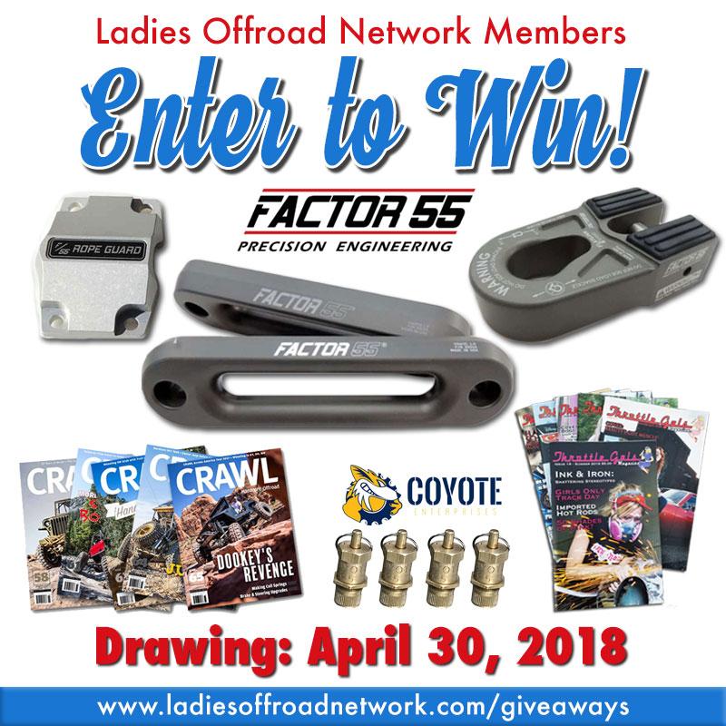 April 2018 Giveaway