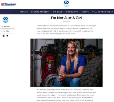 BFG Garage: I'm Not Just a Girl