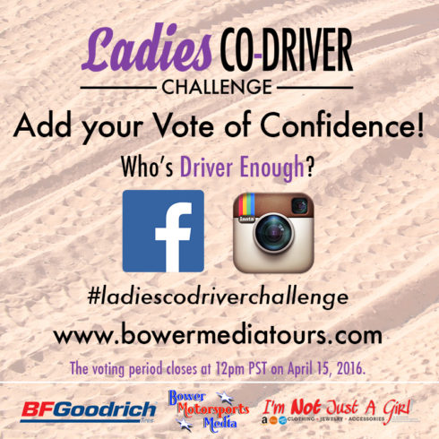 91 Ladies Enter 2016 Bower Media Co-Driver Challenge