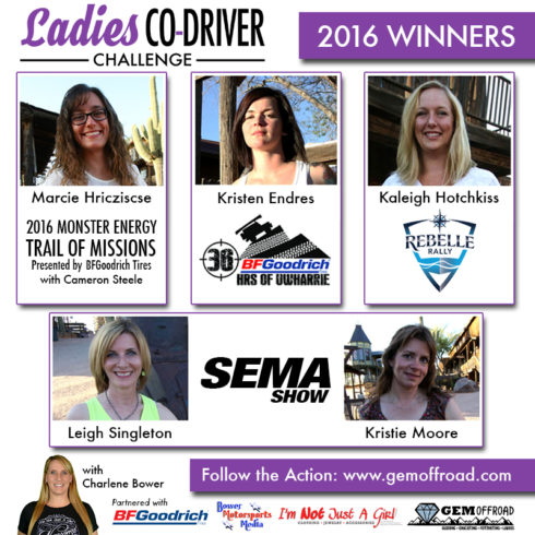 2016 Top 5 Ladies Co-Driver Challenge Announced at GEM Offroad Ladies Meet & Greet