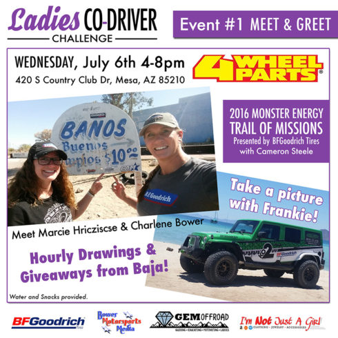Trail of Missions Meet & Greet at 4 Wheel Parts