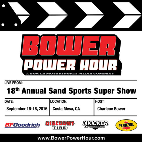 Bower Power Power Hour to Do Live Interviews from Sand Sports Super Show