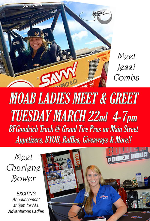 Charlene Bower and Jessi Combs Hosting a Ladies Meet and Greet at Easter Jeep Safari