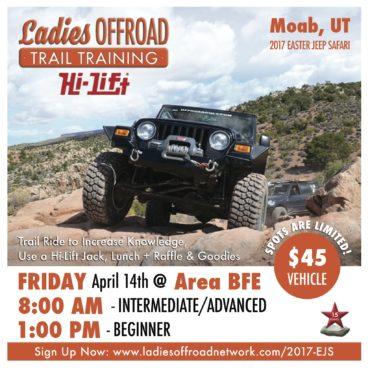 Ladies Offroad Trail Training at 2017 Easter Jeep Safari