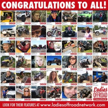 2017 Ladies Offroad Challenge Finalists Announced