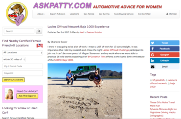 AskPatty.com: Ladies Offroad Network Baja 1000 Experience