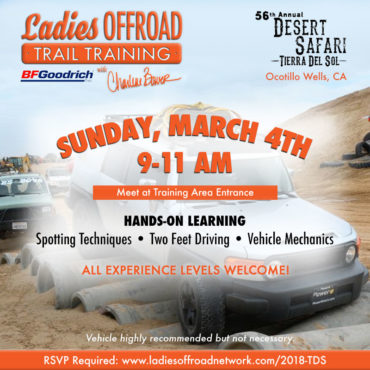 Ladies Offroad Trail Training at 2018 TDS Desert Safari