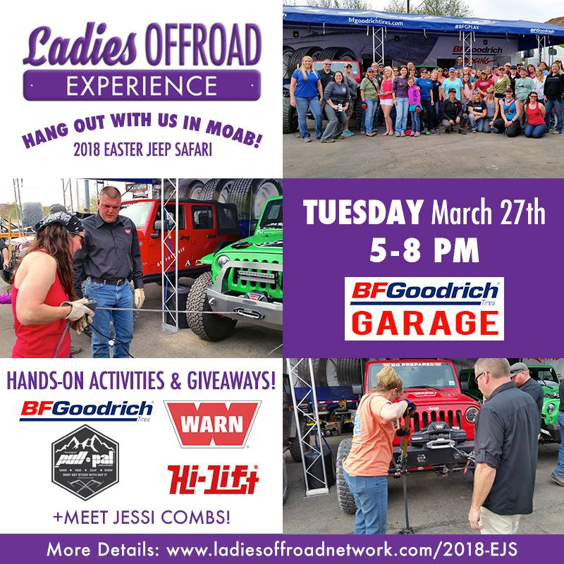 Ladies Offroad Network Offers Moab Ladies Social Experience Evening and Lunch with the Ladies