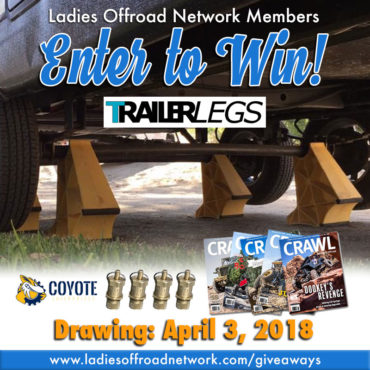 Ladies Offroad Network March 2018 Giveaway