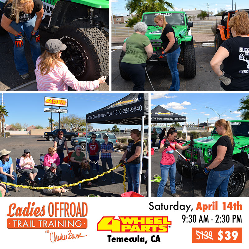 Ladies Offroad Trail Training at 4 Wheel Parts April 2018