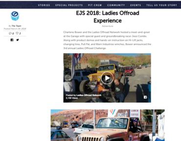 BFG Garage: EJS 2018: Ladies Offroad Experience