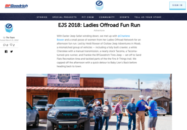 BFG Garage: EJS 2018: Ladies Offroad Fun Run