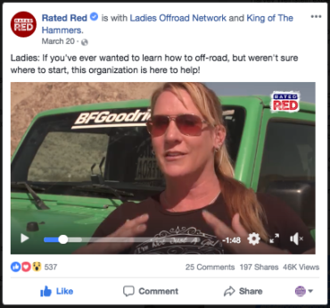 Rated Red – We hang with the Ladies Offroad Network at King of the Hammers 2018