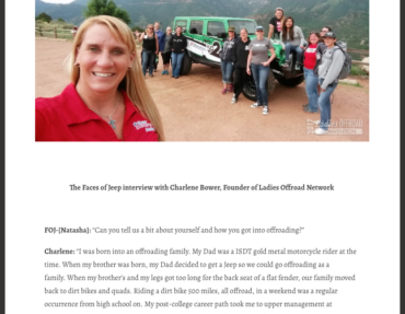 The Faces of Jeep: Interview with Charlene Bower, Founder of Ladies Offroad Network