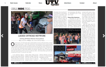 UTV Sports: Uniting Off-Road Women Everywhere