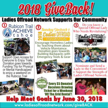 June 2018 Giveback