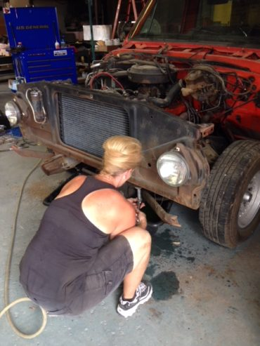 Judy Moore – 1972 C10 Build – And So It Begins ~ Front End Removal