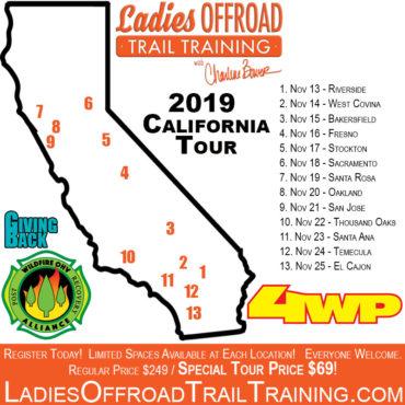 Trail Training Tour – California 2019