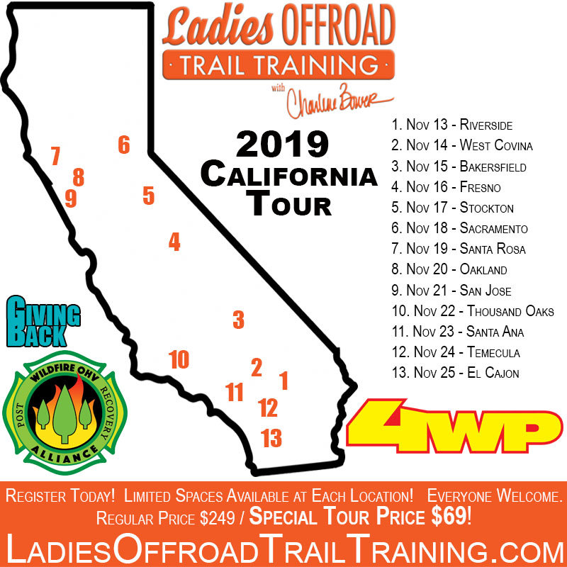 Trail Training Tour – California 2019