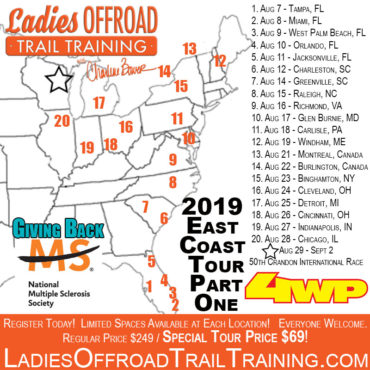 Trail Training Tour – East Coast (Part 1) 2019