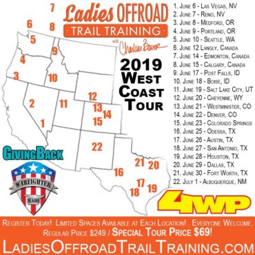 Trail Training Tour – West Coast 2019