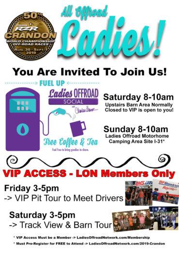 Ladies Offroad Network at Crandon 2019
