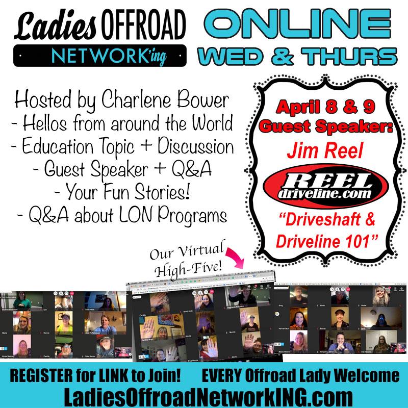 Virtual Networking Ladies Offroad Network JE Reel