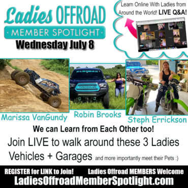 Member Spotlight ladies offroad network July8